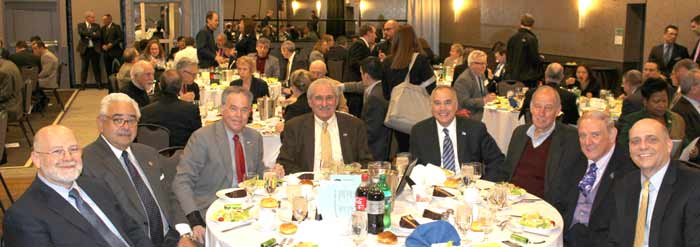 The RBA Table: Ed Ortiz, Orange & Rockland Utilities (SPONSOR); Hector May, Executive Compensation Planners; Rockland County Executive Ed Day; Al Samuels, President/CEO, Rockland Business Association; NYS Comptroller Thomas DiNapoli; Burt Steinberg, Retail Consultant and RBA Chairman; Dr. Cliff Wood, Rockland Community College and Tom Brizzolara, Orange & Rockland Utilities