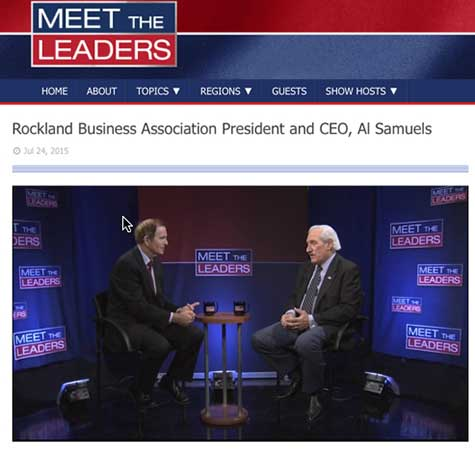 President and CEO of the Rockland Business Association, Al Samuels, is the featured guest on Cablevision's July 24th edition of Meet the Leaders with Kerry Donovan.