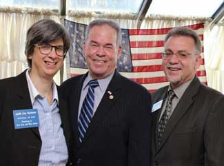 CRED founders, Judith Bachman, Esq. and Michael Shilale with County Executive Ed Day.