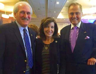 Al Samuels, President/CEO, Rockland Business Association with Lieutenant Governor Kathy Hochul and Senator John Bonacic