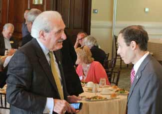 RBA President/CEO Al Samuels speaks with REDC President/CEO Jeremy Schulman