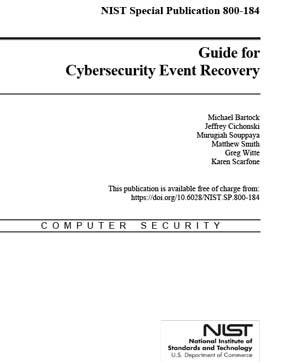 Guide for Cybersecurity Event Recovery